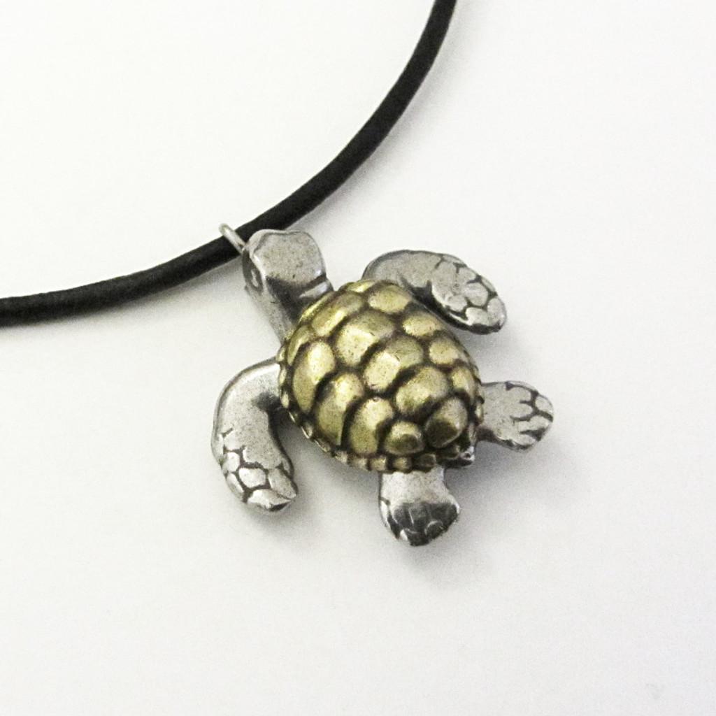 loggerhead sea turtle necklace
