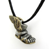 winged sandal talaria necklace