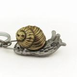 anatomical snail keychain