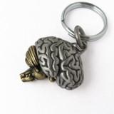 brain anatomy keychain