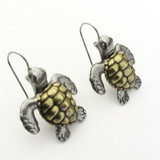 loggerhead sea turtle earrings