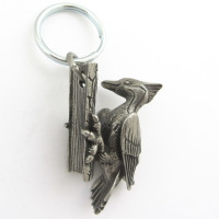 woodpecker keychain