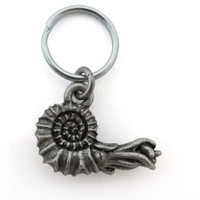 ammonite keychain