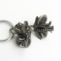flower anatomy keychain