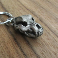 Cave Bear skull Keychain