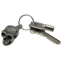 omo erectus skull keychain