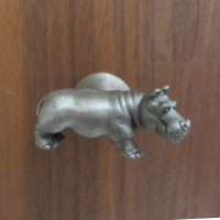 Hippopotamus Drawer Pull