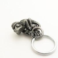 holiday themed chameleon keychain