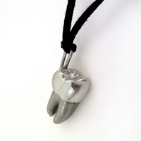 human tooth anatomy locket necklace