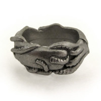 squid and whale ring
