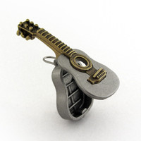 Acoustic Guitar Locket partially open