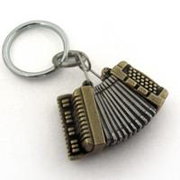 Accordion Locket Keychain