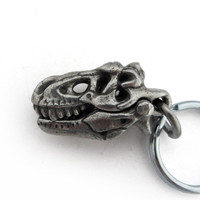 Tyrannosaurus Skull T rex clip keychain