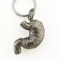 Human Stomach Locket Keychain