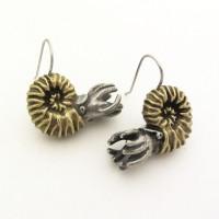 ammonite earrings