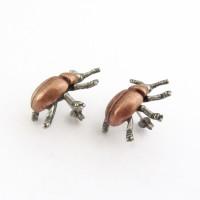 beetle earrings