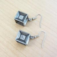 tesseract earrings