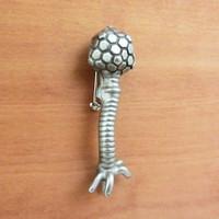 lambda bacteriophage lapel pin