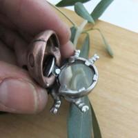 ladybug magnifier pendant