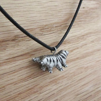 upright pose tardigrade necklace