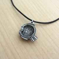 human eye anatomy necklace