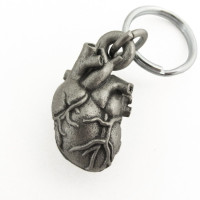 Anatomical Heart Locket Keychain front view