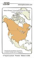 Castor canadinsis range diagram - Keychain Packaging