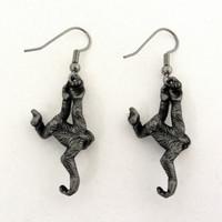 gibbon ape earrings