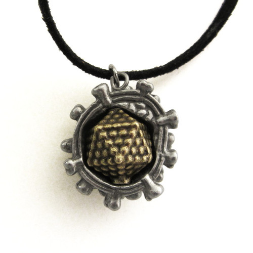 Virus Pendant with outer portion of capsid visible