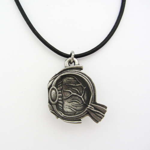 human eye anatomy pendant