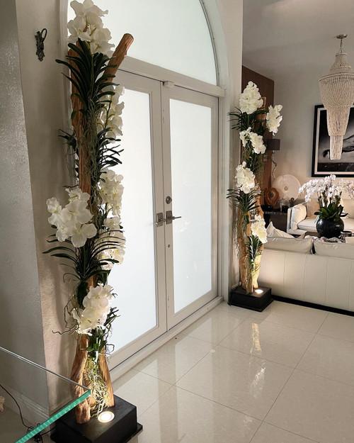 Liana Floor Lamp with Vanda Orchids