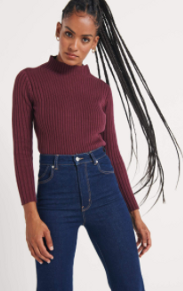 Rolla's Jeanette Rib Sweater - Mulberry