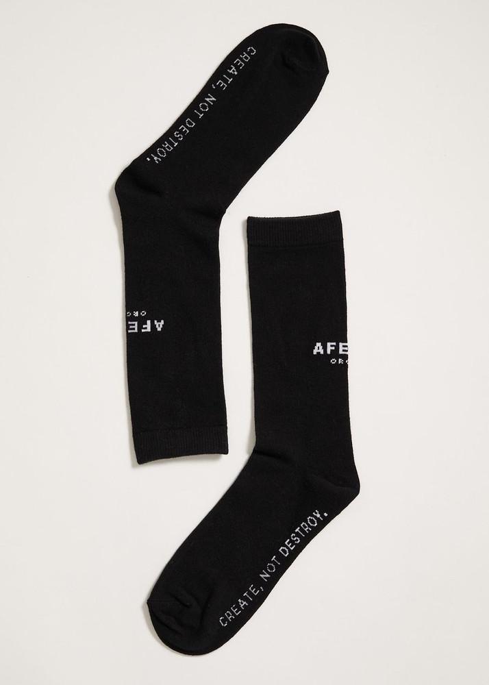 Afends Premium Organic Socks One Pack - Black