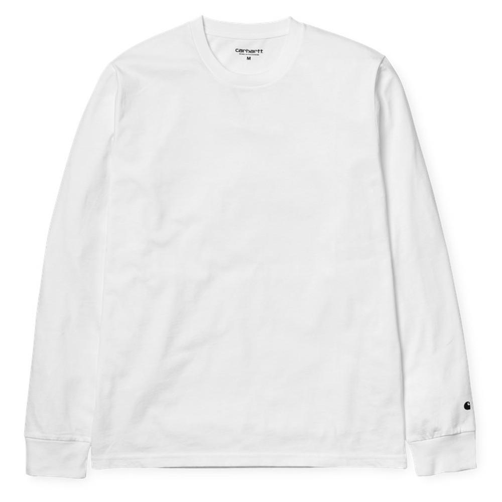 Carhartt WIP L/S Base T-Shirt - White/Black