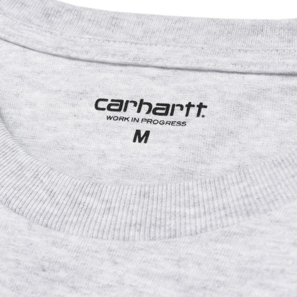 Carhartt WIP L/S Chase T-Shirt - Ash Heather/Gold