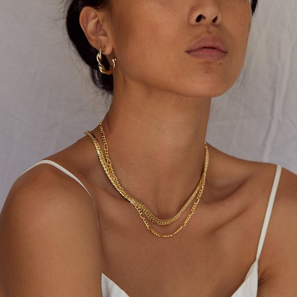 Jolie & Deen Tamika Chain Necklace - Gold
