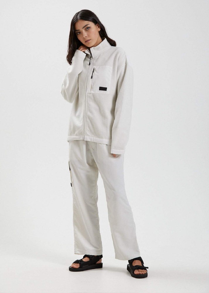 Afends Kelly Unisex Recycled Zip Through Fleece - Off White