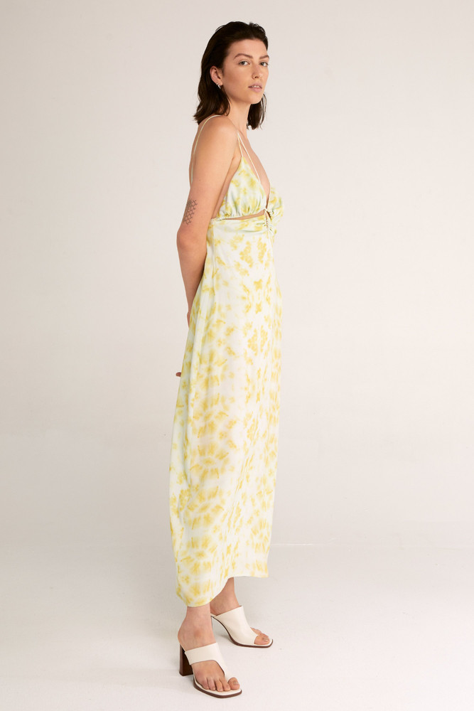 Third Form Ring-Out Slip Dress - Tie-Dye Yellow