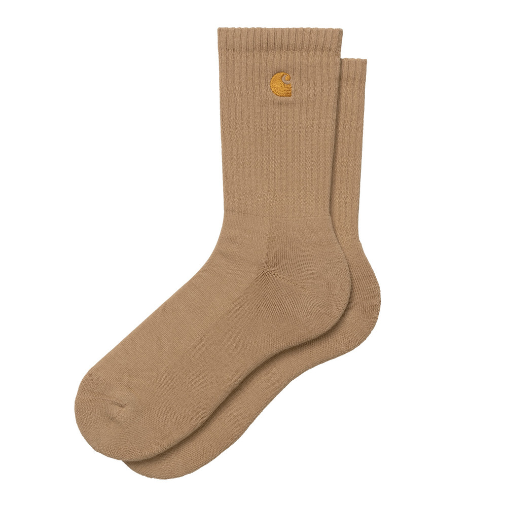 Carhartt WIP Chase Socks - Dusty H Brown/Gold