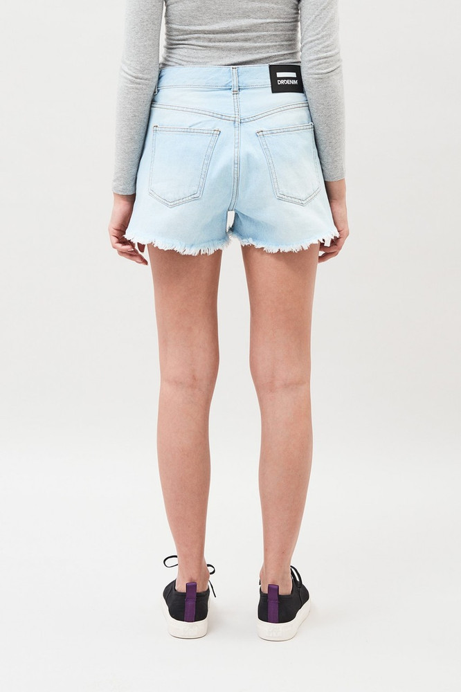 Dr Denim Vega Shorts - Lt Indigo Wash