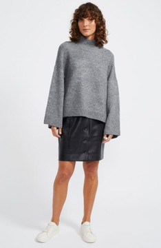 Staple Shadow Oversize Jumper - Charcoal Marle