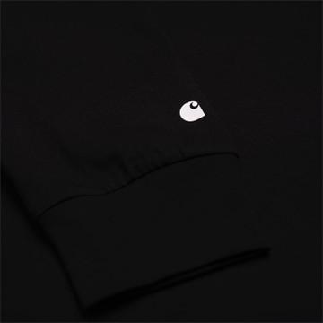 Carhartt WIP L/S Base T-Shirt - Black/White