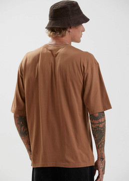 Afends Supply Recycled Oversized T-Shirt - Camel