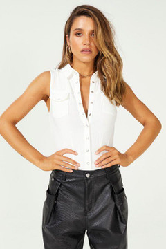 Twiin Certain Bodysuit - White