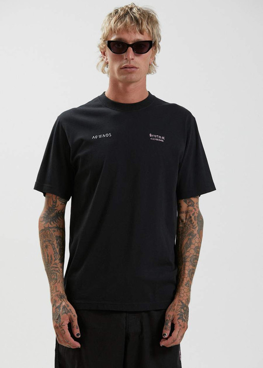 Afends Clean Earth Retro Fit Tee - Black