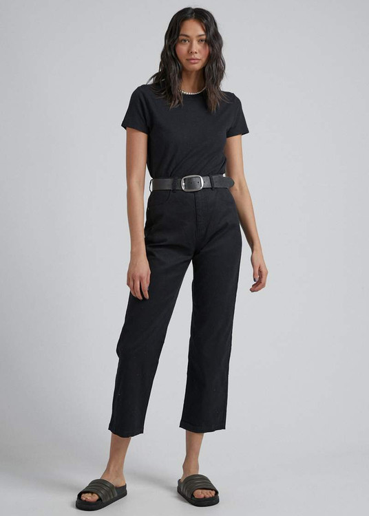 Afends Shelby Hemp High Waist Pant - Black
