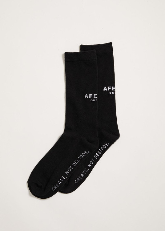 Afends Premium Organic Socks One Pack - Black