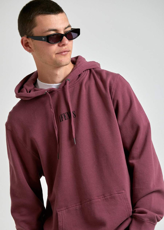 Afends Bleach Unisex Pull On Hood - Redwood