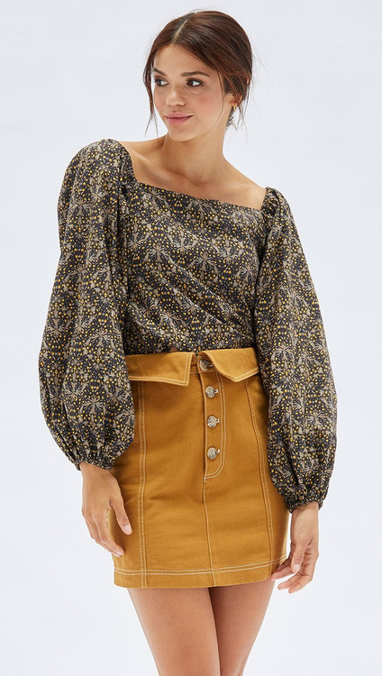 Mink Pink Connections Mini Skirt - Olive