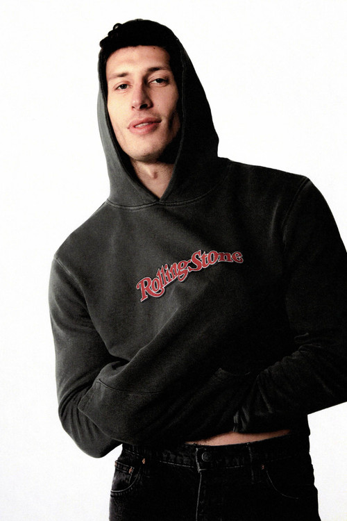 Rolla's Rolling Stone Hoodie - Washed Black